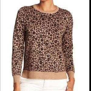 Philosophy Jacquard Leopard Sweater Size Medium